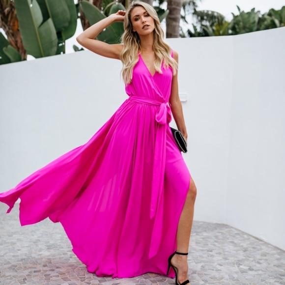 317799726c6 Vici Dresses   Nwt Collection Diana Fuchsia Maxi Dress Med   Poshmark